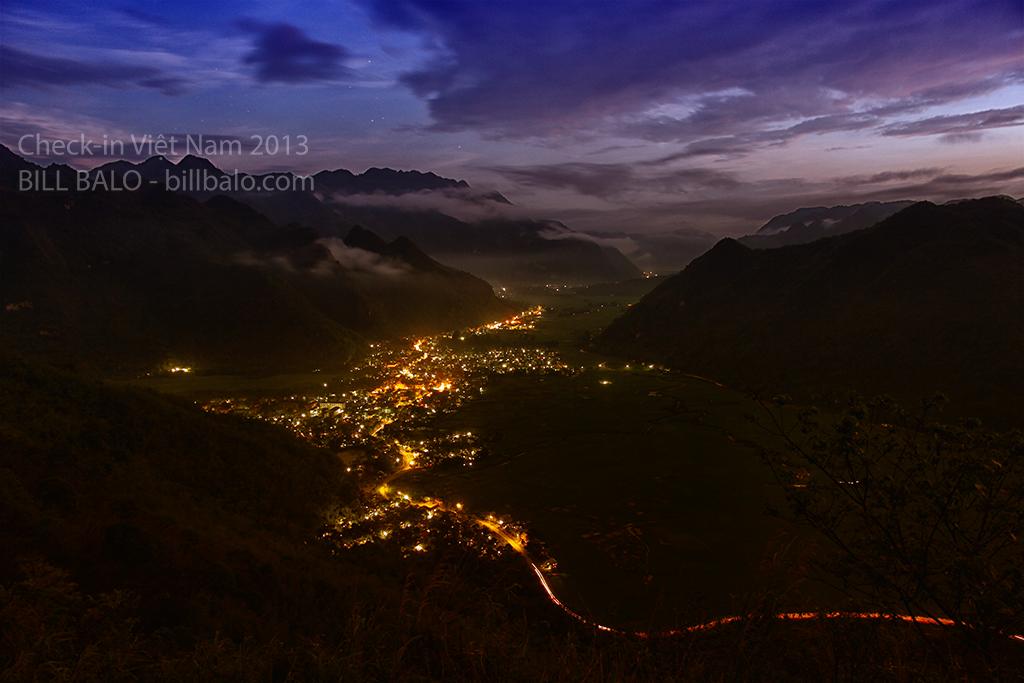 Thung lũng Mai Châu lên đèn thật đẹp