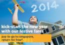 Miễn phí vé chiều về cho các chuyến bay tới Singapore