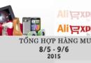Tổng hợp mua hàng trên AliExpress từ 8/5 – 9/6/2015