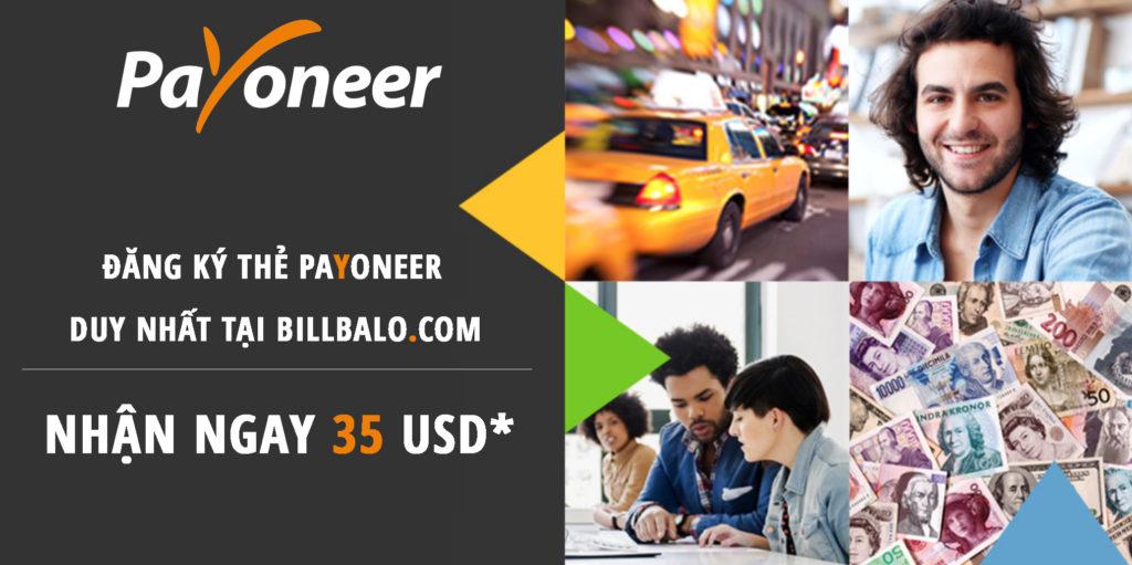 đăng ký thẻ Payoneer