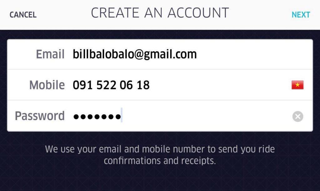 đăng ký uber