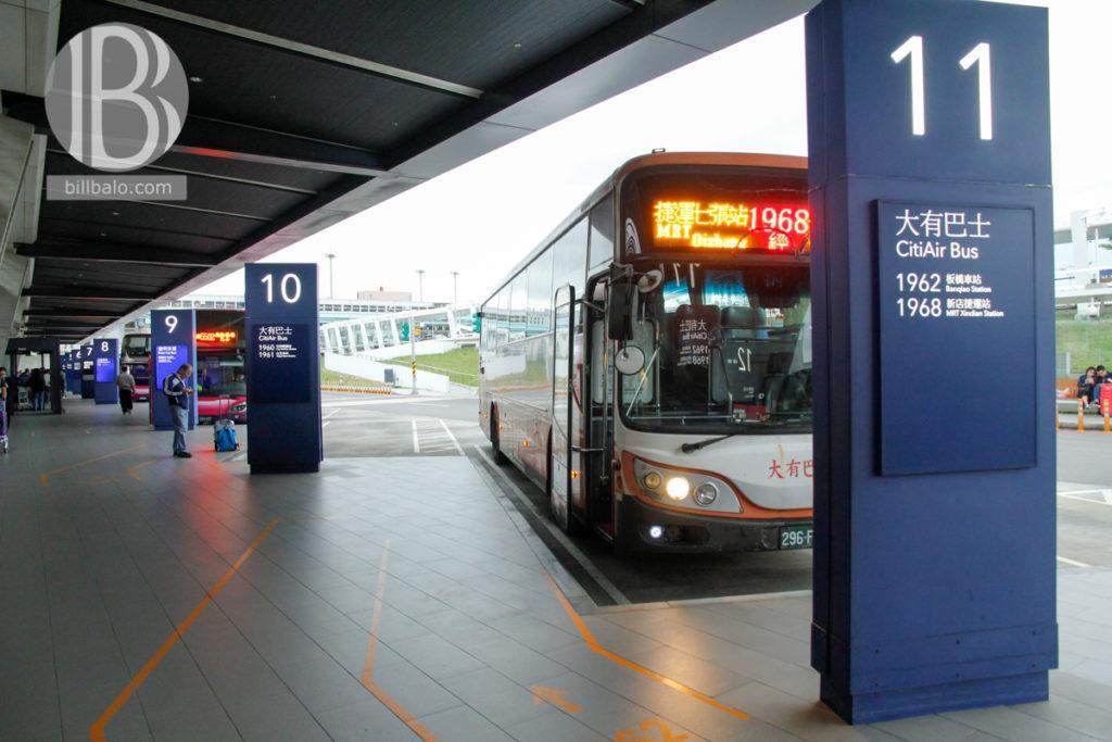Xe Bus từ sân bay Đào Viên về trung tâm thành phố Đài Bắc - Ảnh: Bibalo Blog