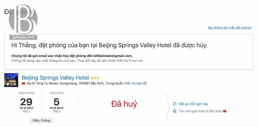 Cách huỷ đặt phòng khách sạn không bị mất tiền trong thẻ tín dụng
