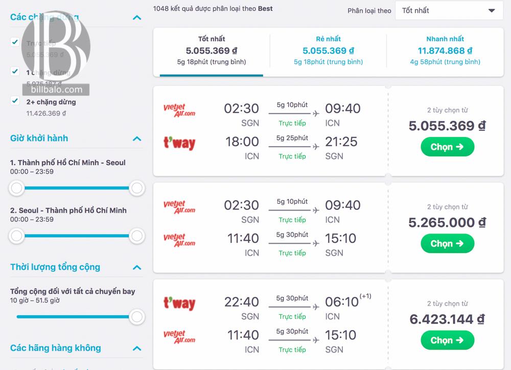 Kinh nghiệm săn vé máy bay giá rẻ đi Hàn Quốc, Đài Loan, Hong Kong