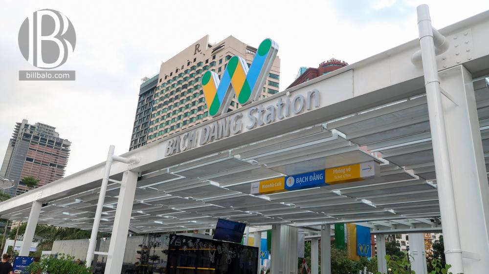 Review Bus sông Sài Gòn ngày đầu tiên vận hành tại nhà ga Bạch Đằng