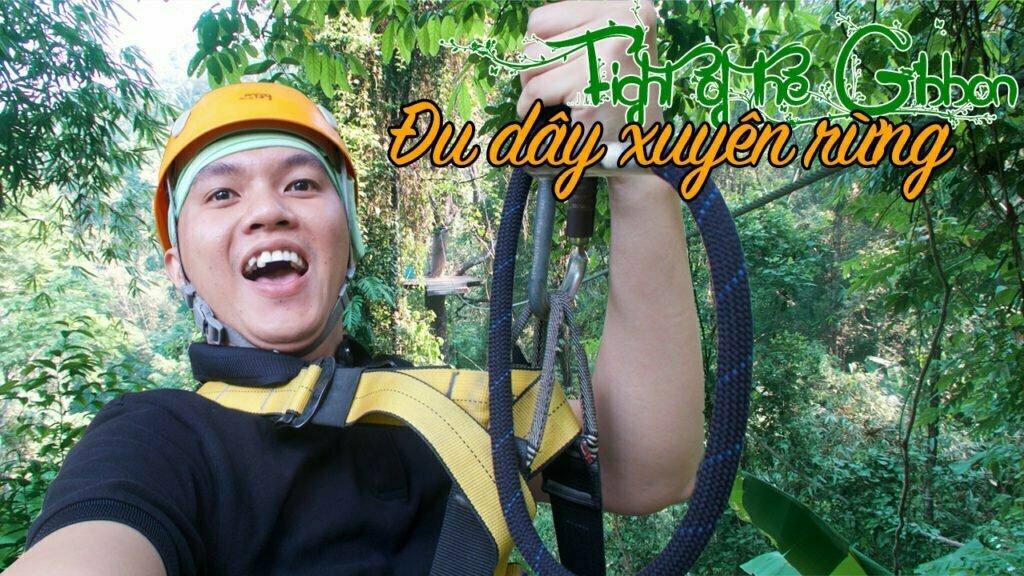 đu dây xuyên rừng flight of the gibbon chiang mai