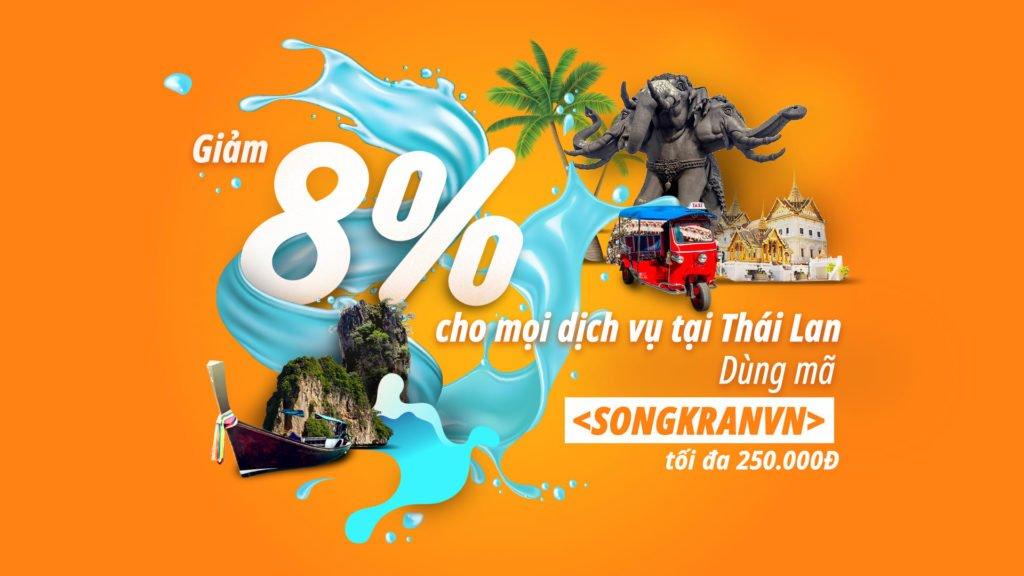 Lịch trình ngày lễ Tết té nước Songkran ở Phuket, Thái Lan