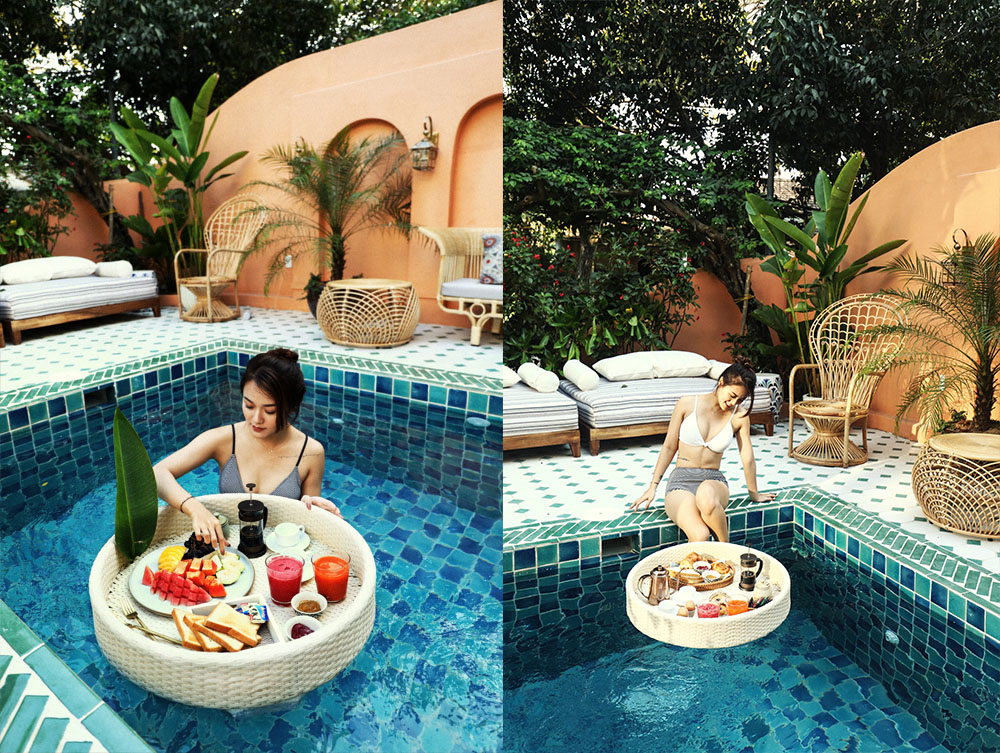 Floating Breakfast tại The Mansion Hoi An