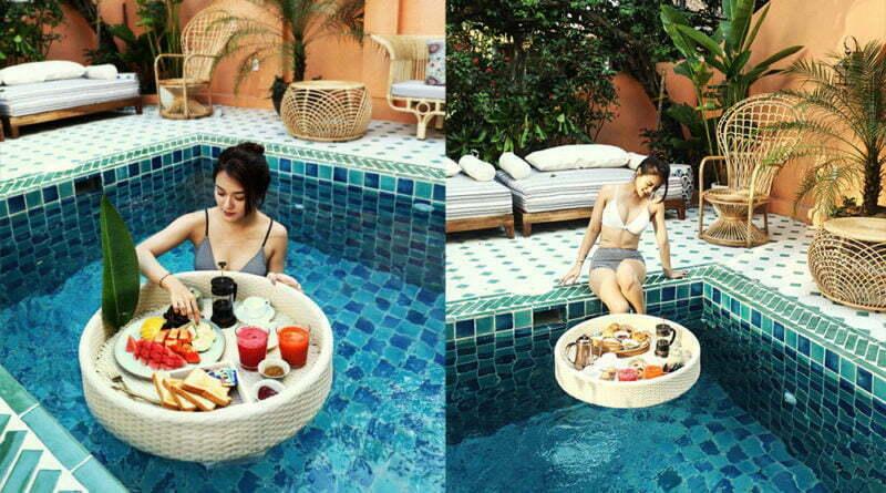 Độc đáo trải nghiệm Floating Breakfast tại The Mansion Hoi An