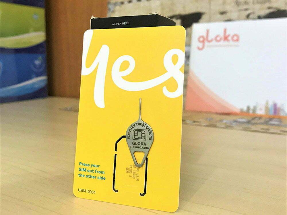 Sim du lịch quốc tế thiết kế theo ngày đi của khách tại Gloka