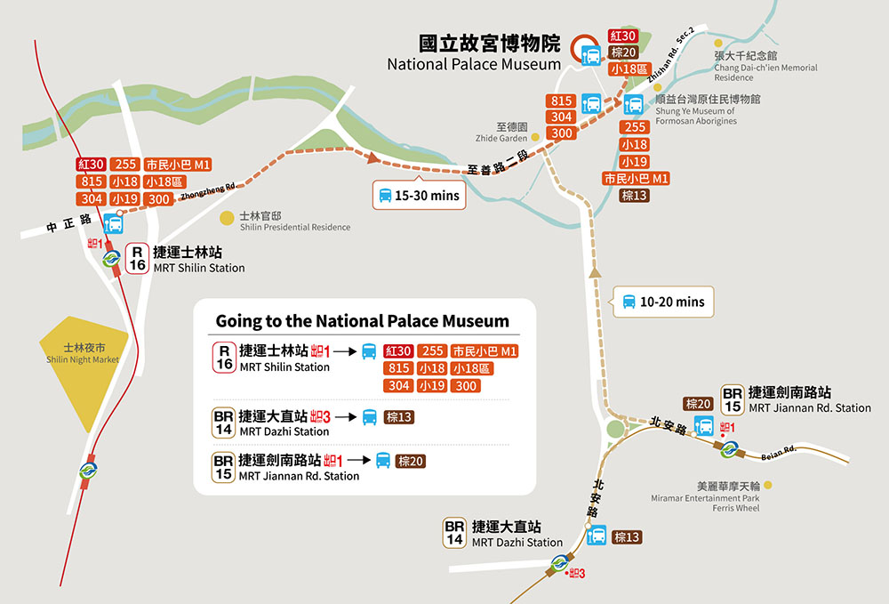 Cách đi Bảo tàng Cố cung Đài Bắc