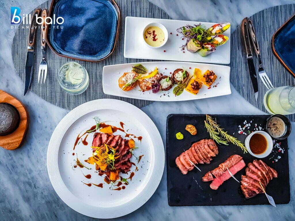 Thực đơn & Món ăn tại nhà hàng Ussina Sky 77